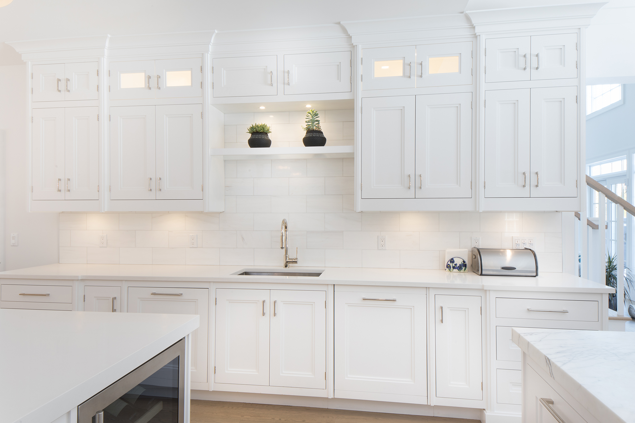 Beautiful White cabinets