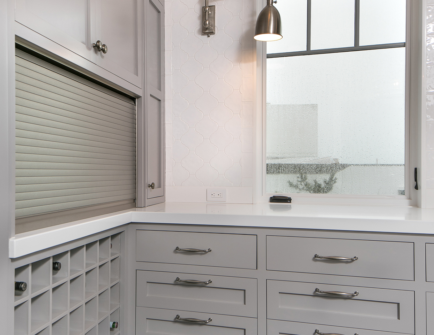 Mid-grey nyc custom cabinetry